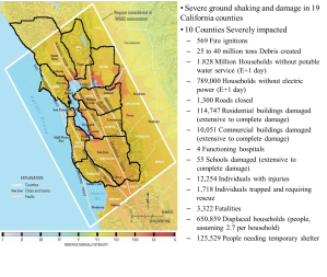 Source: San Francisco Bay Area Earthquake Readiness: Concept of Operation Plan (2008)