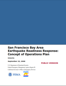 San Francisco Bay Area Earthquake Readiness Response_Concept of Operations Plan
