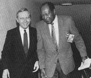 Key Decision Makers during the Rodney King Riots: Gov.. Pete Wilson and Los Angeles Mayor Tom Bradley (FLICKR Photo)