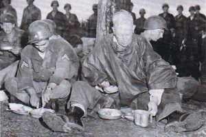 California Governor Earl Warren visits troops of the 40th Division in Korea in 1952