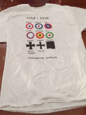 The California State Military History Museum, with its gift shop in Old Sac, would have been served as a distribution center, so to speak, for California WWI History Association for their T-Shirts and other WWI novelties they're selling to help build the Weight of Sacrifices Memorial in Washington DC.