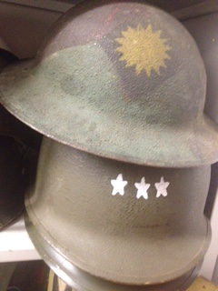 As WWI Centernnial Associations scramble to preserve artifacts like this 40th Infantry Div. WWI helmet, they are disappearing under the State Military Department's Command in California.