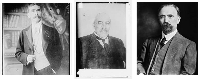 "el Pacto de la Embajada: Interpretation-""The Embassy Pact that U.S. Ambassador to Mexico Henry Lane Wilson (left) engineered to support Mexican General Victoriano Huerta's (Center) military coup and eventual assassination of President Francisco I. Madero in 1913 (Flickr Photos)"