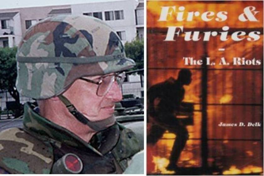 Maj. James D. Delk's (left): Fires &Furies: The L. A. Riots- What Really Happened reveals what happened behind the scenes of the 1992 L.A Riots. Delk was the National Guard Commander, Joint Task Force Los Angeles during the 1992 L.A. Riots. (File Photos).