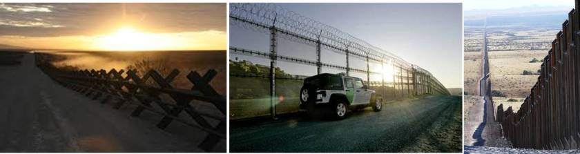Smarter, not taller wall. Donald Trump's wall diplomacy might begin by standardizing obstacles to match terrain across the Southwest border. California's anti-vehicle barriers (left) block and delay vehicle traffic in areas inhabitable to foot traffic, whereas Arizona's chain-linked fence (center) are easily penetrable, while California's steel fence (right) stretches pedestrian traffic from populated areas. Some propose a double-wall near populated areas to force foot traffic to climb two obstacles, further delaying them, and giving the US Border Patrol more time to detain them.